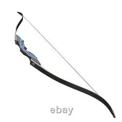 50Ib Recurve Bow Kit Wood Riser Right Hand Adult Hunting Practice Outdoor Sport