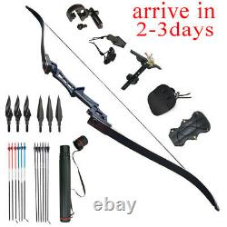 50LB 57 Takedown Recurve Bow Kit Right Hand Bow Arrow Adult Archery Hunting#UK
