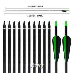 50LB Archery 57 Takedown Recurve Bow Set Kit Adult Hunting Sport Arrows RH