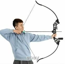 50LBS Takedown Recurve bow Longbow Set Arrow Adult Archery Outdoor Hunting