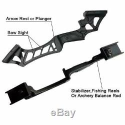 50lb 57 Archery RH Takedown Recurve Bow Set Bag Fiberglass Arrows Adult Hunting