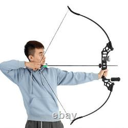 50lb Archery 51 Takedown Recurve Bow Kit Arrows Adult Outdoor Hunting Sport