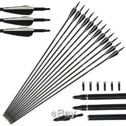 50lb Archery Recurve Bow Set Hunting Arrows Broadheads Outdoor Sport Adult RH