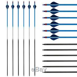 50lb Archery Takedown Recurve Bow Kit Right Hand Adult 12x Arrows Hunting Tips