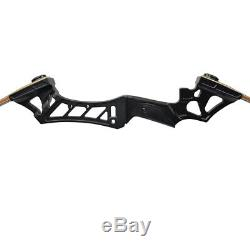 50lb Archery Takedown Recurve Bow Set Black Riser 12x Hunting Arrows Adult RH