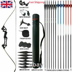 50lb Takedown Recurve Bow Set Hunting Bow Arrows Adult Target Practice Accessary