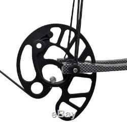 50lb Triangle Compound Bow Archery Hunting Right Left Hand Bow 270 fps Black