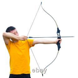 50lbs 52 Archery Recurve Bow Set Hunting Right Hand Arrows Target Practice#UK