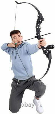 50lbs 52 Archery Takedown Recurve Bow Arrow Set Outdoor Hunting Target UK Stock