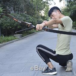 50lbs 56 Archery Recurve Bow Hunting Laminated Longbow Shooting Right Hand Bow
