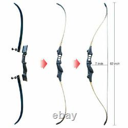 50lbs Recurve Bow Set 52 Hunting Bow Arrows Outdoor Archery Starters Practice