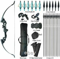 50lbs Takedown Recurve Bow Set Bow Hunting Adult Arrow Target Practice Accessary