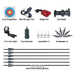 51 Hunting Bow and Arrow Archery Set for Adults 30 lbs Aluminum Magnesium Alloy