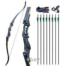 52 Archery Recurve Bow Set for Adults Takedown 50lb Hunting Shooting Target