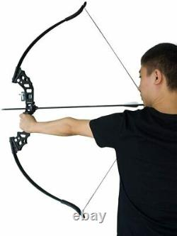 52 Archery Takedown Recurve Bow Longbow Set Arrow Outdoor Hunting Target 50lbs