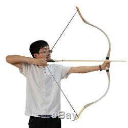 54 Archery Recurve Hunting Bow Traditional Horse Longbow Right Left Hand 70 Lbs
