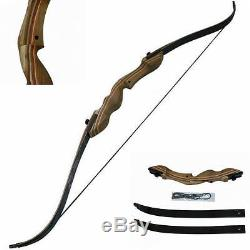 55lb Archery Hunting Takedown Laminated Limbs 60 Recurve Bow Right Hand Longbow