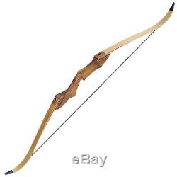 55lbs 60 Archery Recurve Bow Hunting Target Longbow Right Hand Laminated Limbs