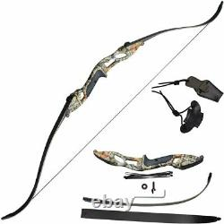 56 30-50lb Takedown Recurve Bow Archery Hunting Bow and Arrow Set Adult Target