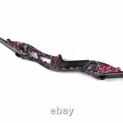 56 Archery Recurve Bow Carbon Arrows Set 30-50lbs Takedown Target Hunting Shoot