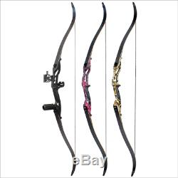 56 Outdoor Archery Hunting Right Hand Pro Takedown Recurve Bow Target Shooting
