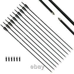 57 Archery Hunting Recurve Bow Set Right Handed Sport Outdoor Adult Practice