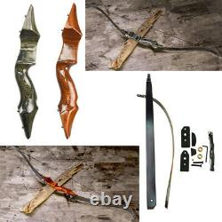 58 25-55lbs Archery Recurve Bow Takedown American Hunting Shooting Right Hand