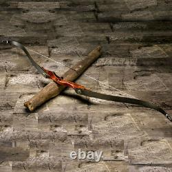 58'' Archery Hunting Longbow Takedown Recurve Bow Laminated Limbs Adult 35-55lb