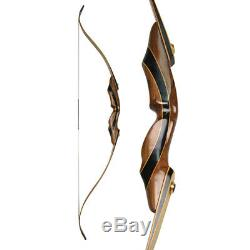 58 Archery Recurve Bow American Hunting Bow Takedown 25-55lbs Right Hand