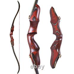 58 ILF Recurve Bow Wooden Riser Takedown Archery Hunting Shooting 20-50lbs