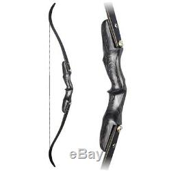 58 Inch Archery Takedown Recurve Bow Right Hand ILF 3060lbs Hunting Shooting