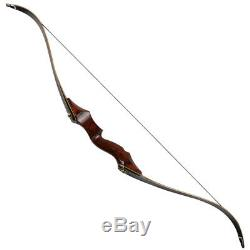 58in Archery Laminated Longbow Takedown Recurve Bow Hunting Adult Target 35-55lb