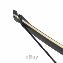 60 Archery Hunting Longbow Takedown Recurve Bow RH + Extra Limbs Bamboo Core