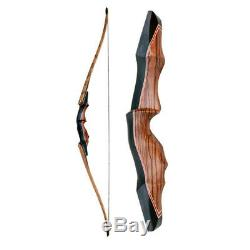 60 Archery Longbow 30-60lbs Takedown American R-H Hunting 15'' Bow Riser Wooden