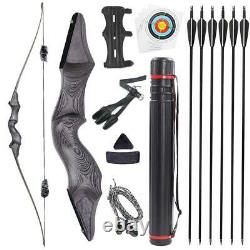 60'' Archery Longbow Takedown Bow Hunting Bow and Arrow Set for Adults Targeting