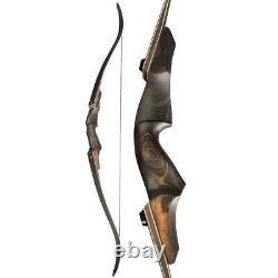 60 Archery Recurve Bow 20-60lbs Wooden Riser Takedown American Hunting Target