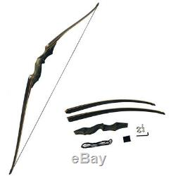 60 Archery Takedown Bow American Hunting Longbow Recurve Right Hand 30-60lbs