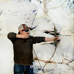 60 Archery Takedown Longbow 30-60LBS Wooden Bow Riser Right Left Hunting Sport