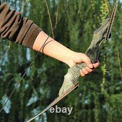 60'' Archery Takedown Longbow 30-60lbs Wooden Bow Riser Right Left Hand Hunting