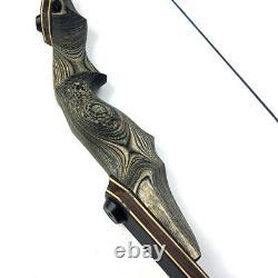 60 Archery Takedown Recurve Bow RH 35-60lbs Bamboo Core Limb Hunting Shooting