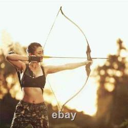 60 Archery Takedown Recurve Bow Wooden Riser 30-60lbs Carbon Arrow Quiver Hunt