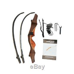 60 ILF Archery Recurve Bow American Hunting Bow Wooden Handle Riser 30lbs