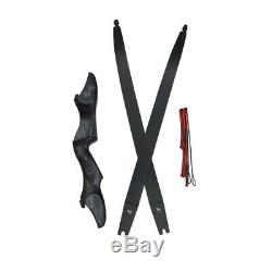 60 Recurve Bow ILF 30-60lbs Archery Right Hand Takedown Outdoor Hunting Shoot