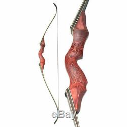 60 Recurve Bow Set 34 Carbon Arrows Archery Hunting Target Shooting 30-60lbs