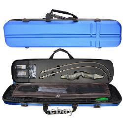 60 Recurve Bow Set Hard Case Carbon Arrows 25-60lbs Takedown Archery Hunting