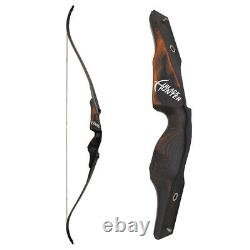 60 Recurve Bow Wooden Archery 25-60lbs Takedown Bamboo Core Limbs American Hunt
