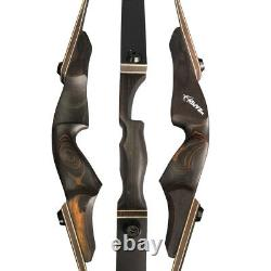 60'' Takedown Recurve Bow 20-60lb Wooden Riser Right Hand Archery Hunting Target