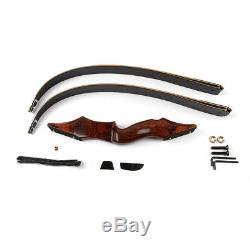 60lb 58 Archery Takedown Laminated Limbs Recurve Bow Hunting Wood Riser Longbow