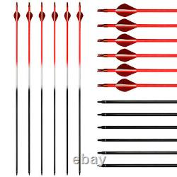 60lb Archery 57 Takedown Recurve Bow Kit Hunting Arrows Set Adult Right Hand