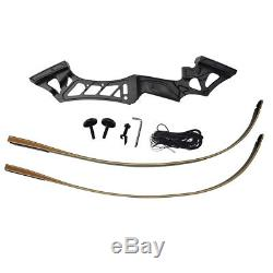 60lb Archery Recurve Bow Set 57'' Takedown Hunting Right Hand 12 Arrows Head